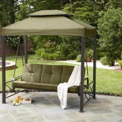 Baby Chairs To Help Sit Up Floor Cover For Under High Chair Garden Oasis 3-person Gazebo Swing *limited Availability*