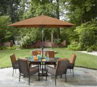 Garden Oasis Harrison 7 Piece Dining Set - Outdoor Living ...