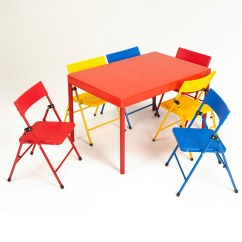 Kids Table And Chair Set Kmart Folding Japan Cosco Home Office Products Kid 39s 7 Piece