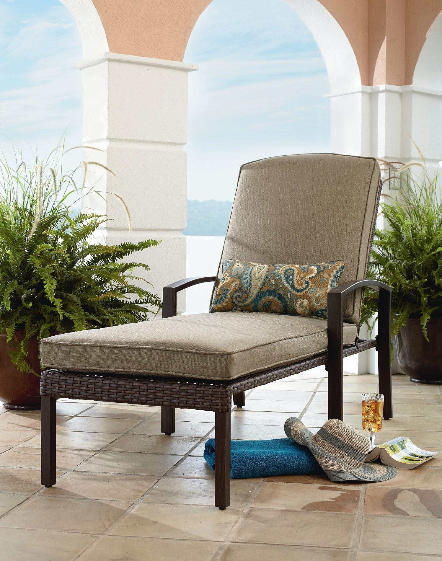 sears lounge chairs cane woven outdoor chaise find patio lounges at
