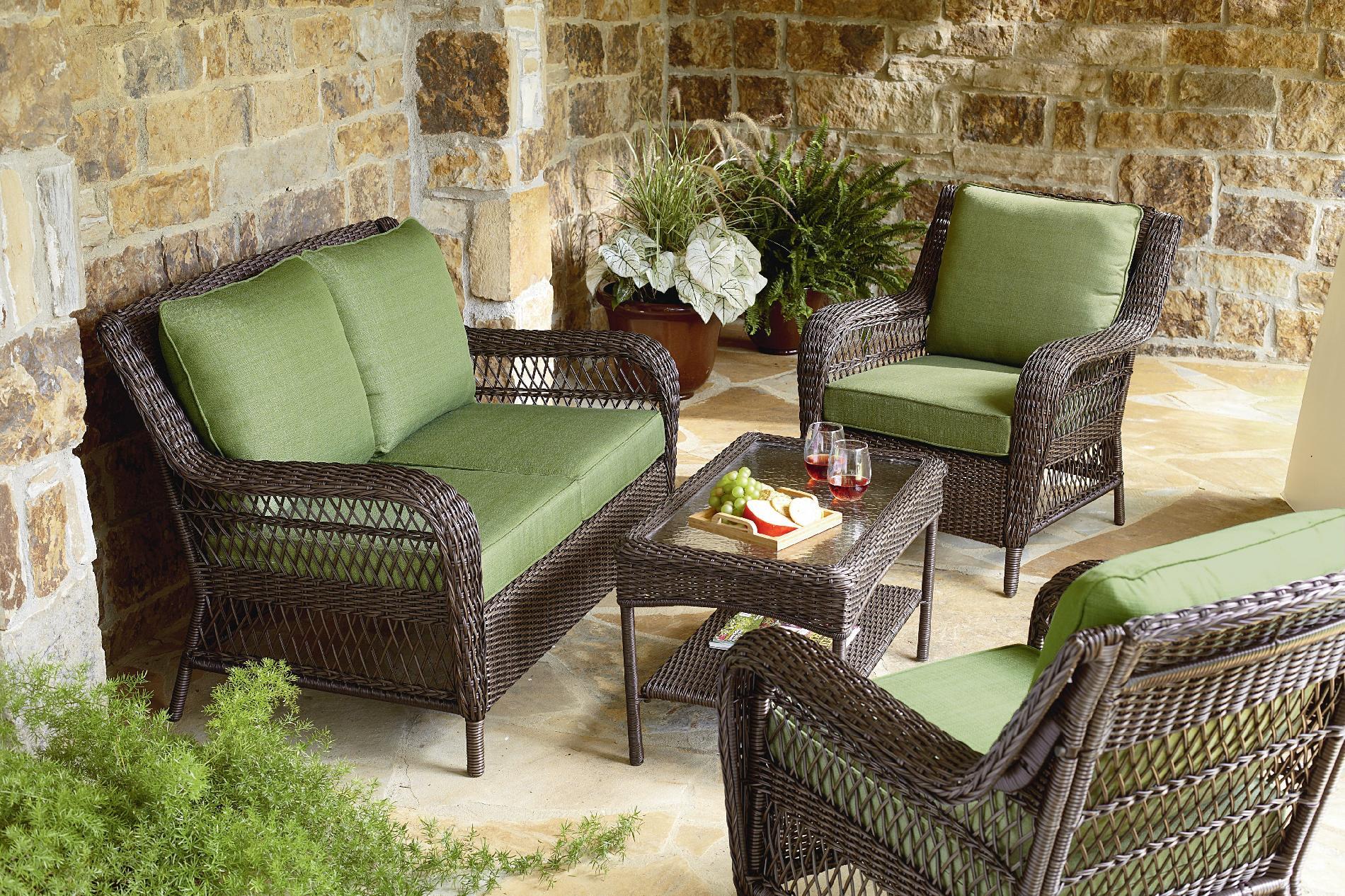 Mason Green Easton 4 Piece Deep Seating Set  Outdoor