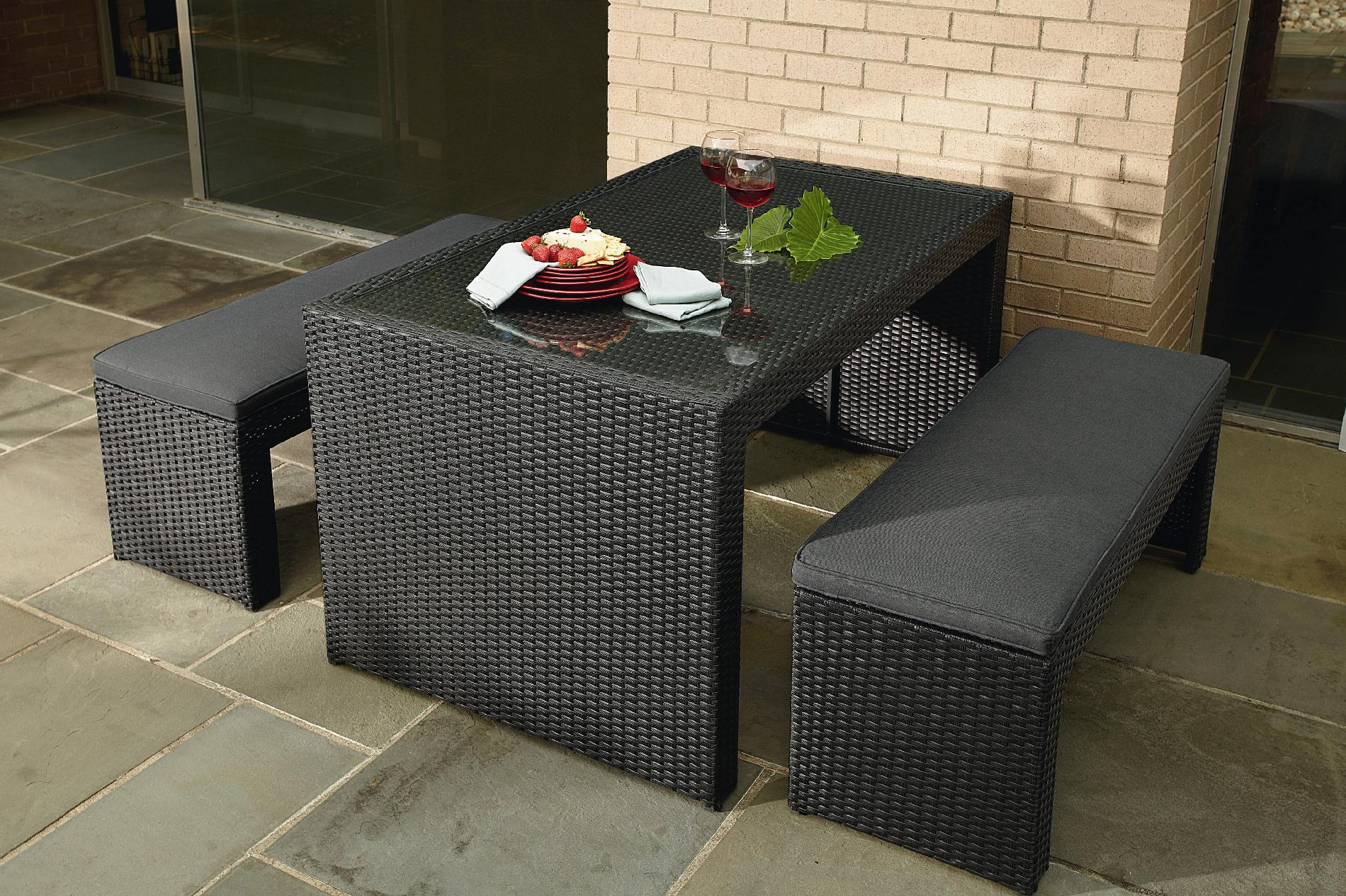 La-boy Derik 3pc Bench Dining Set Limited Availability
