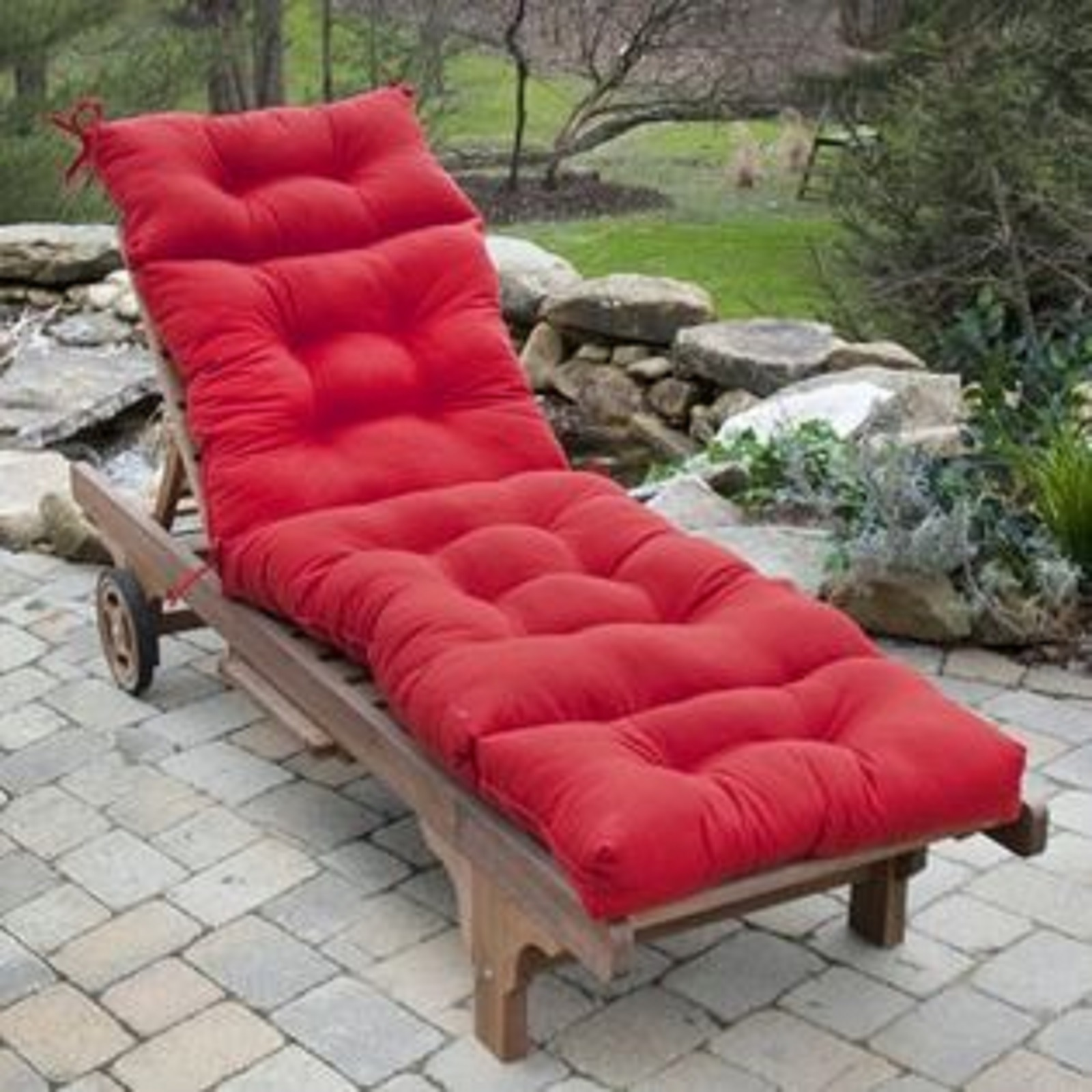 kohls outdoor chair cushions staples stacking chairs greendale home fashions 72 in chaise lounger