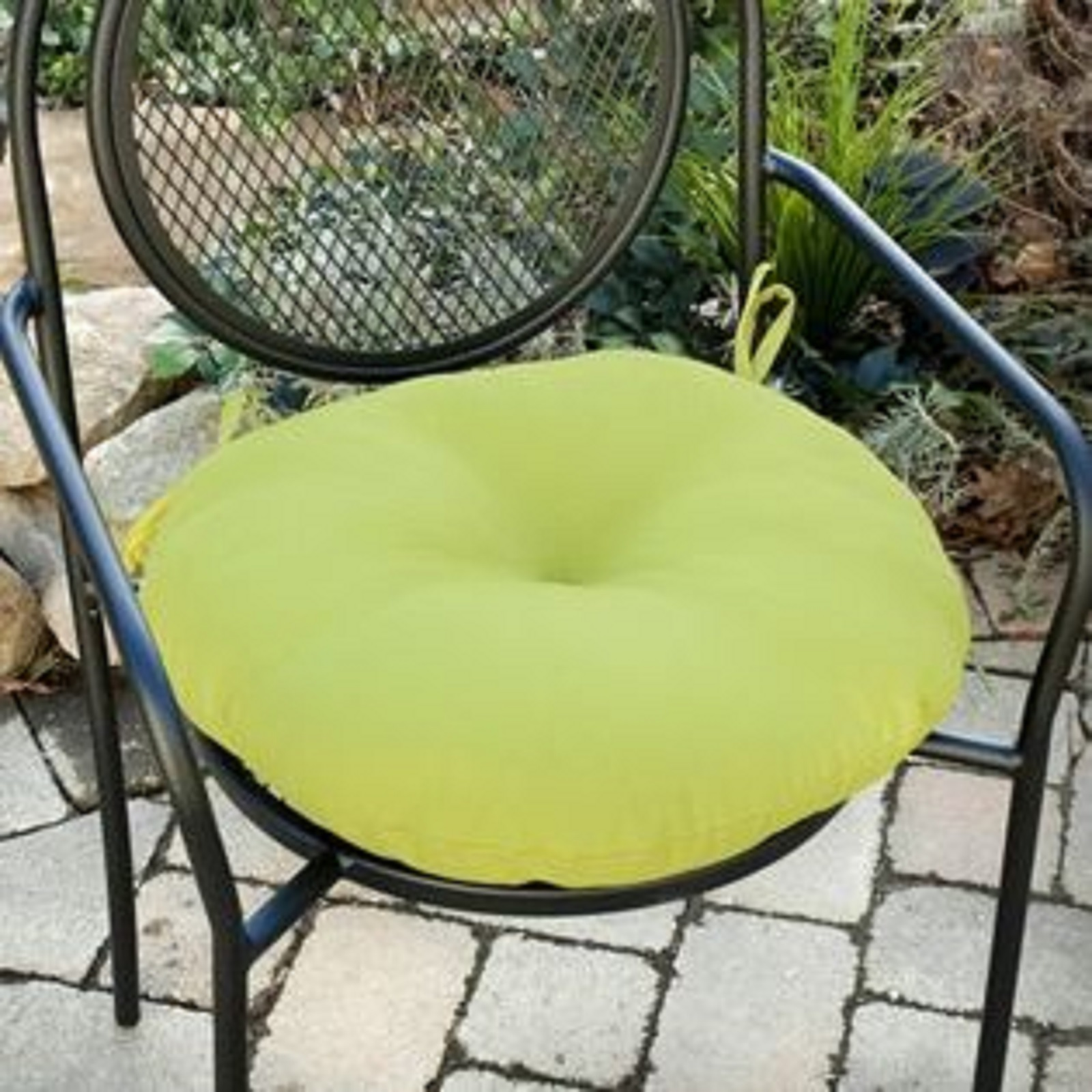 Round Patio Chair Cushions Greendale Home Fashions 18 In Round Outdoor Bistro Chair
