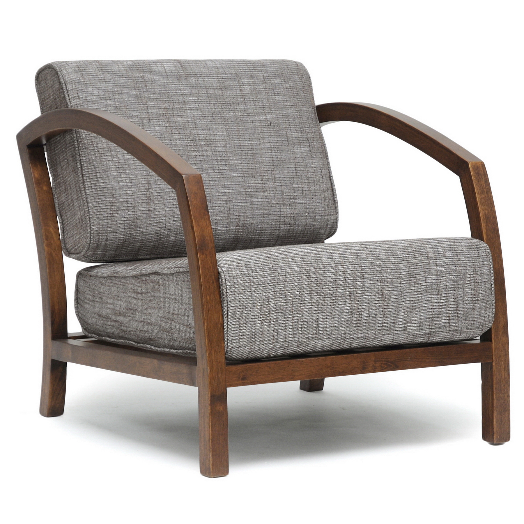 Armchairs & Accent Chairs Baxton Studio Velda Brown Modern Accent Chair Home