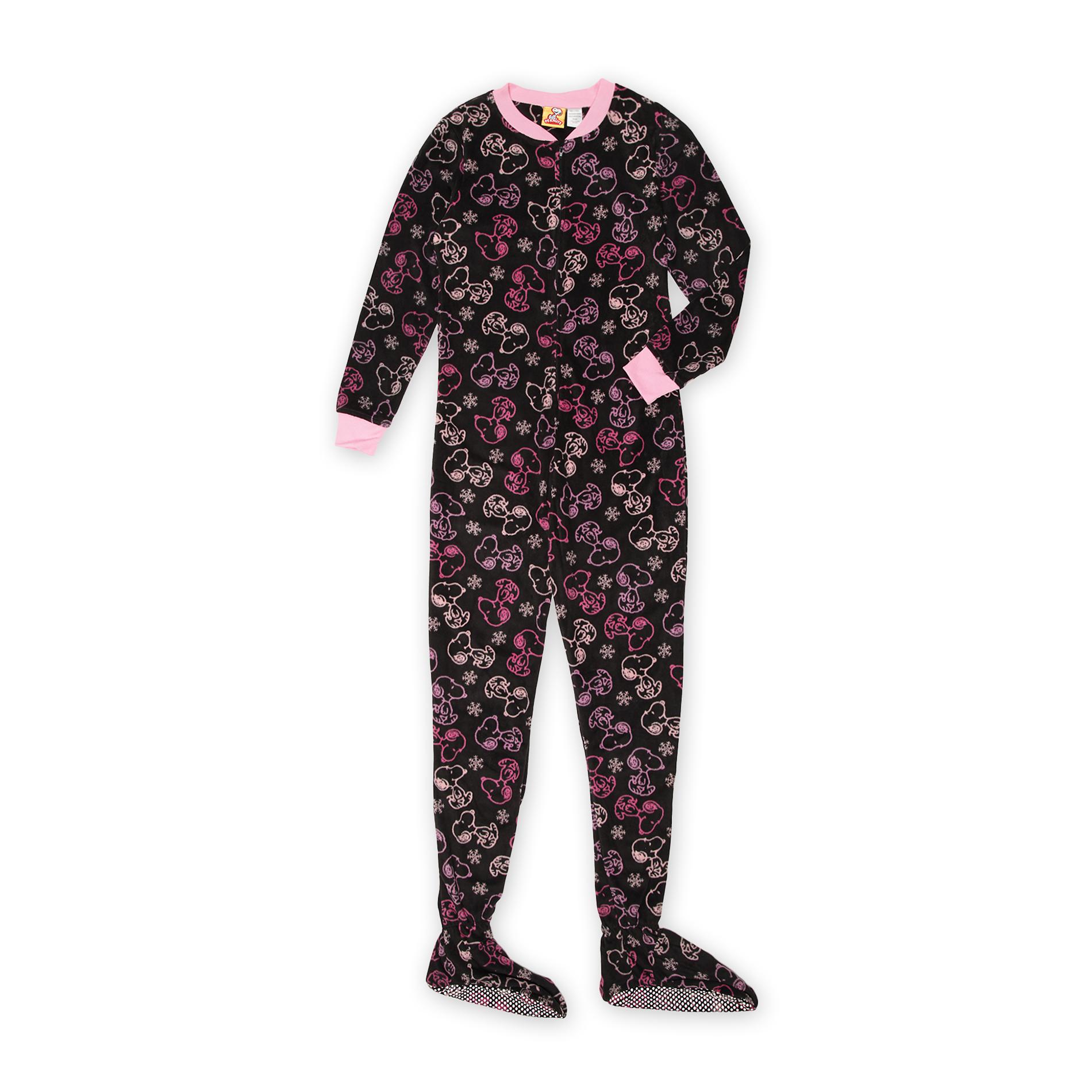 Peanuts Schulz Women' Footie Pajamas - Snoopy