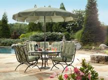 Addison Patio Dining Table With Lazy Susan Improve