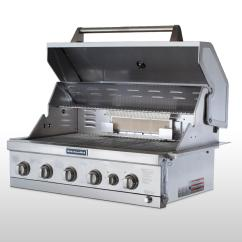 Kitchen Aid Gas Grill Country Canister Sets Ceramic Kitchenaid 36 4 Burner Built In With Searing