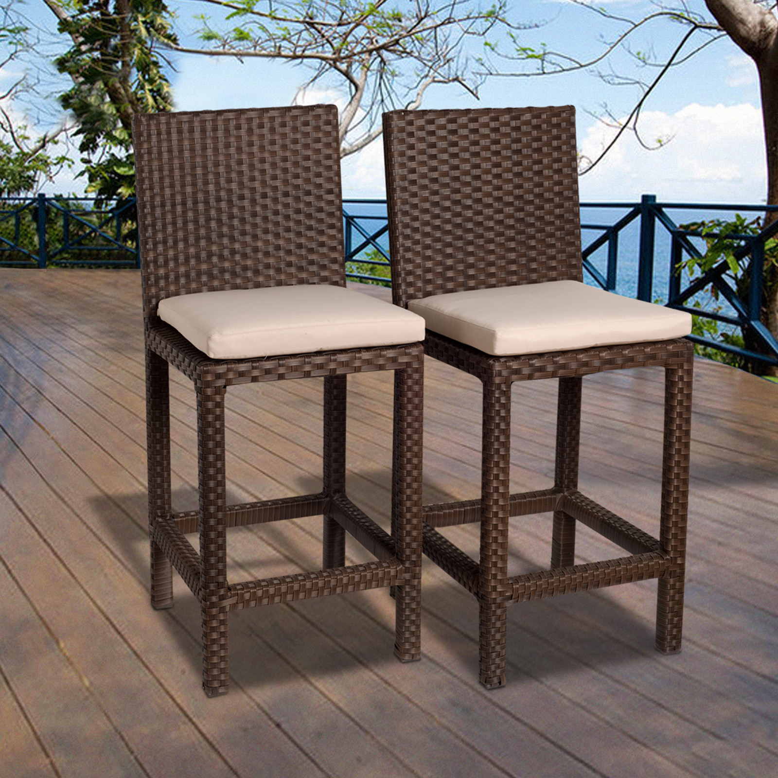 Atlantic Abaco 2 Piece Brown Synthetic Wicker Patio