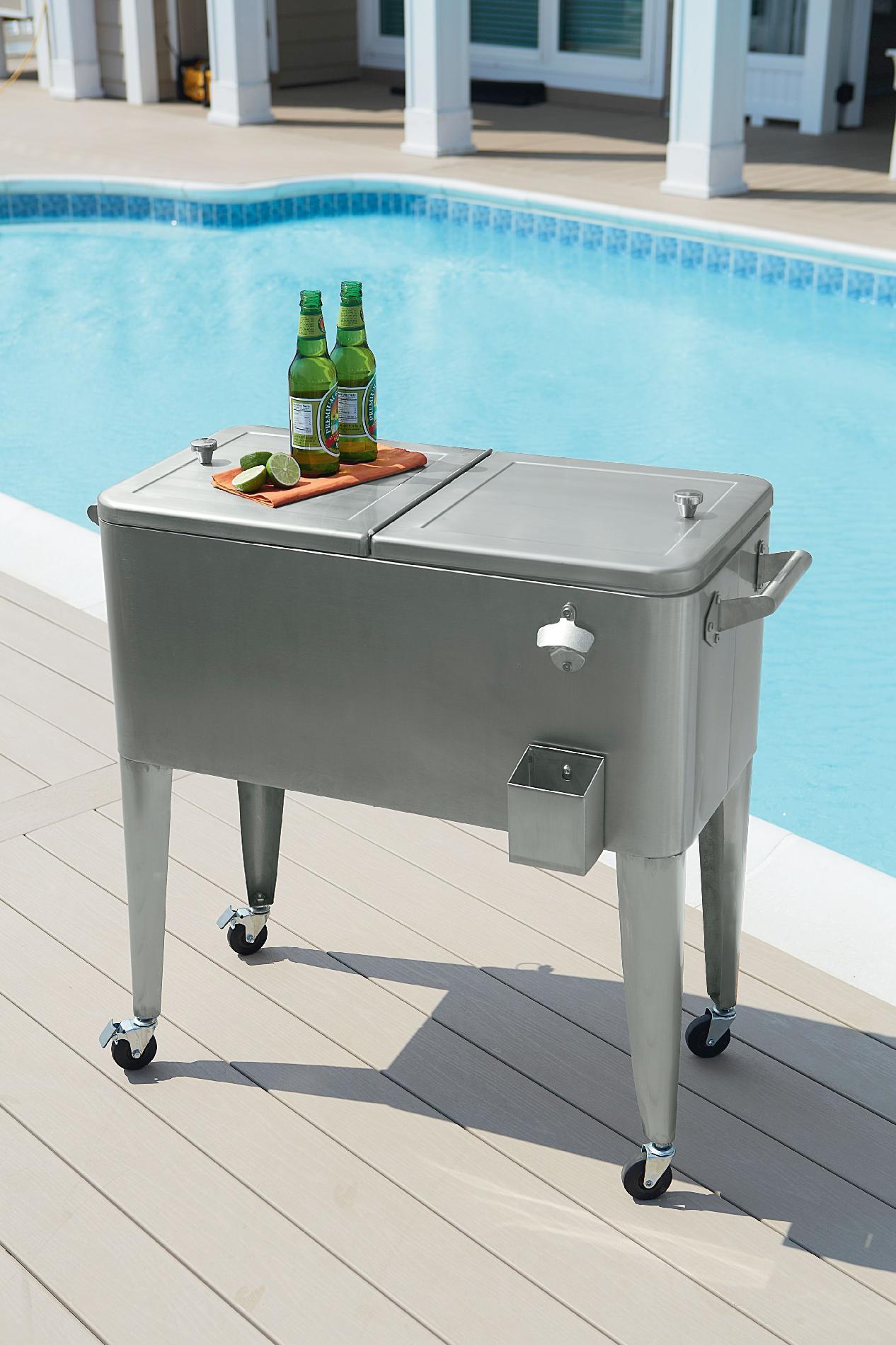 Garden Oasis 80 Qt. Stainless Steel Patio Cooler
