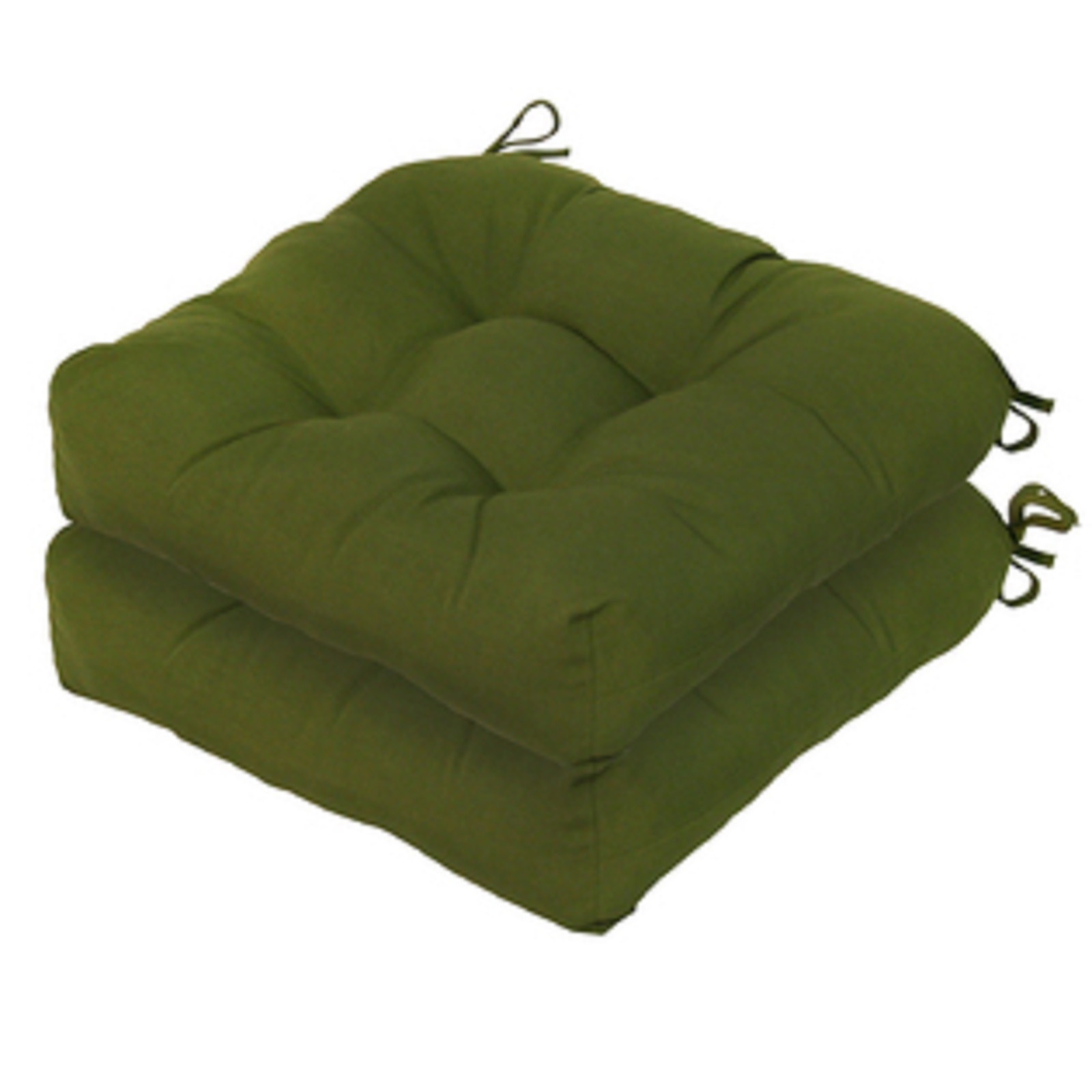 green chair cushions small upholstered swivel greendale home fashions set of two 20 quot outdoor