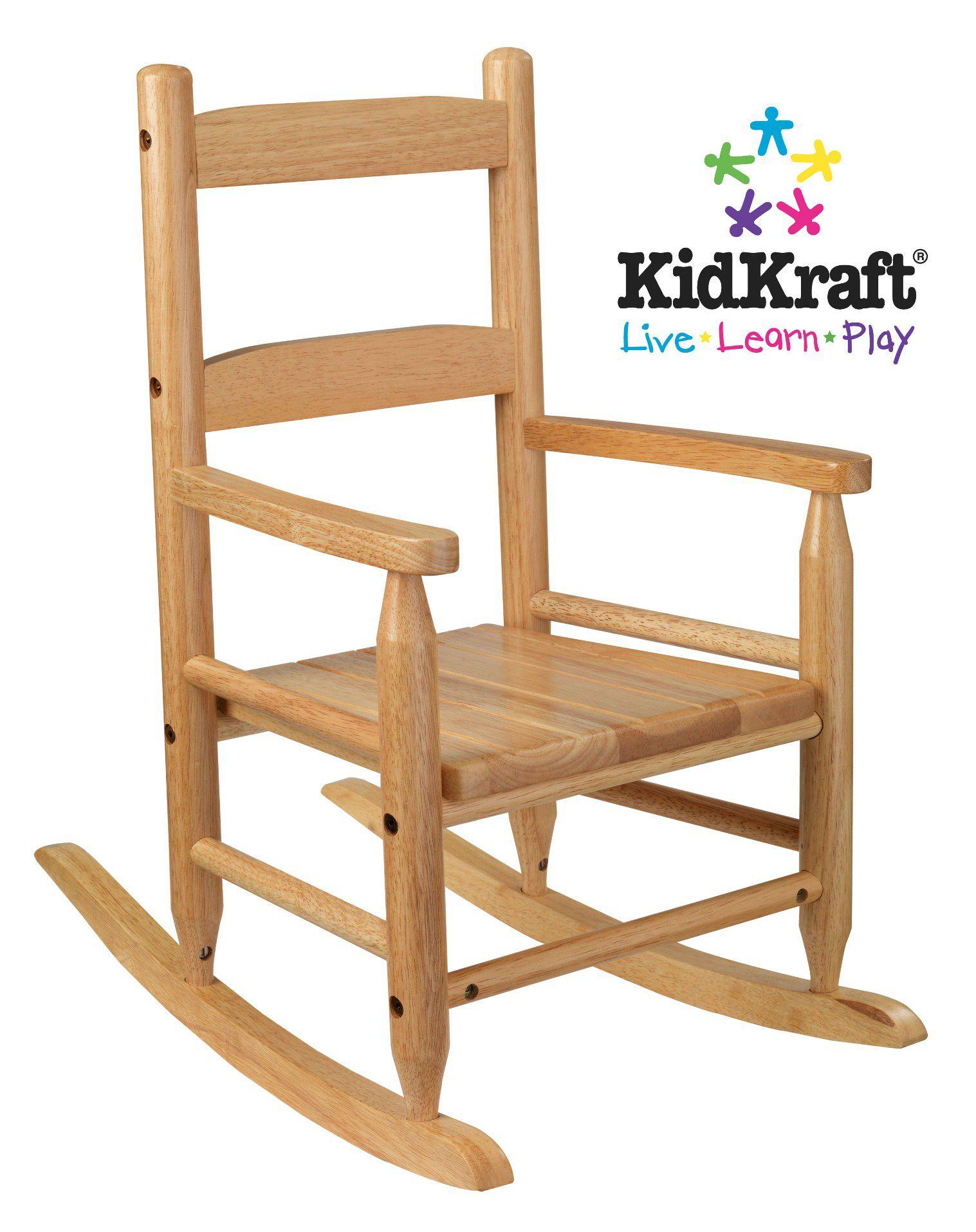 KidKraft 2Slat Rocking Chair  Natural  Home  Furniture