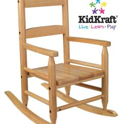 2 Rocking Chairs Instrumental Best Home Computer Chair Kidkraft Slat Natural Furniture