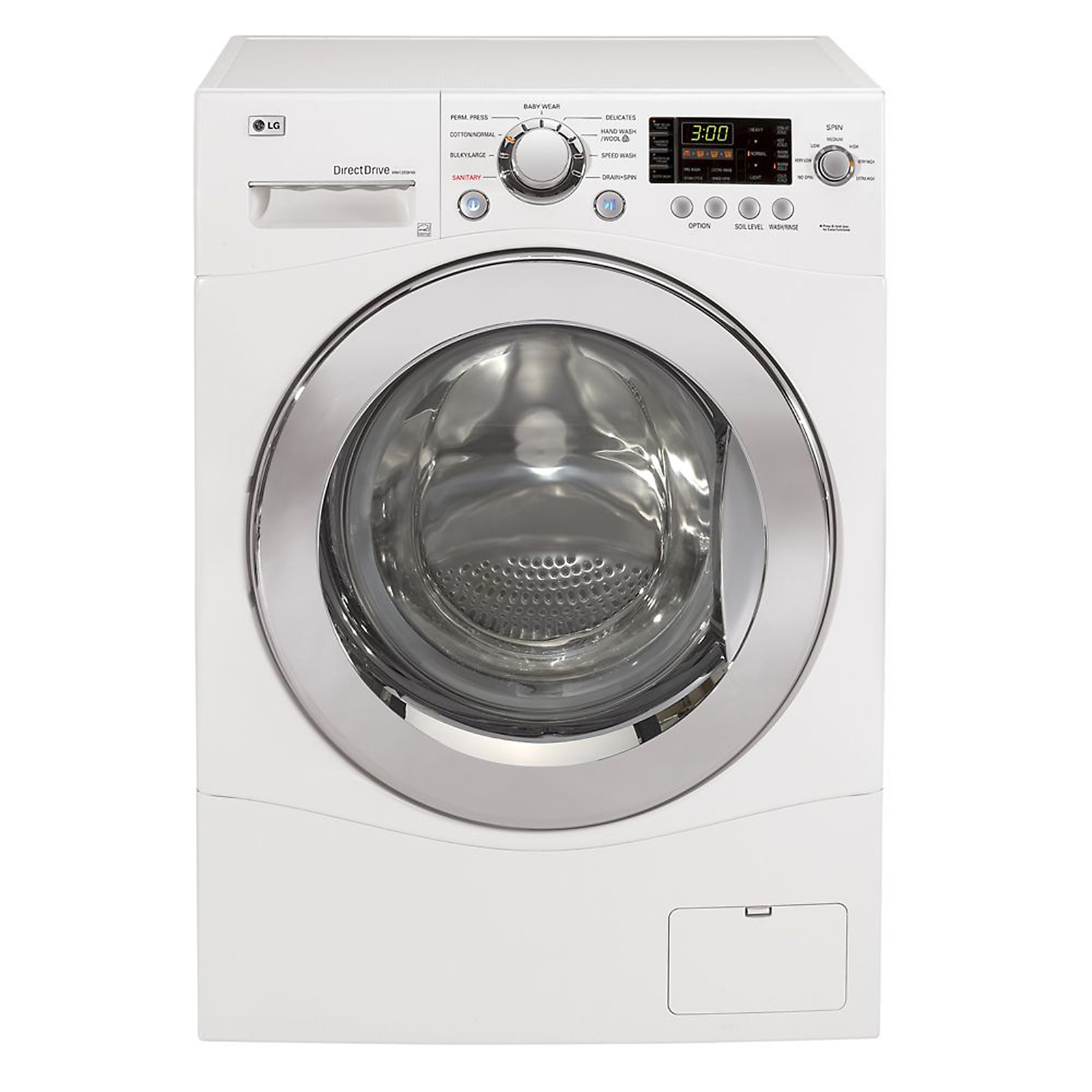 Lg - Wm1355hw 2.3 Cu. Ft. Compact Front-load Washer White Sears Outlet