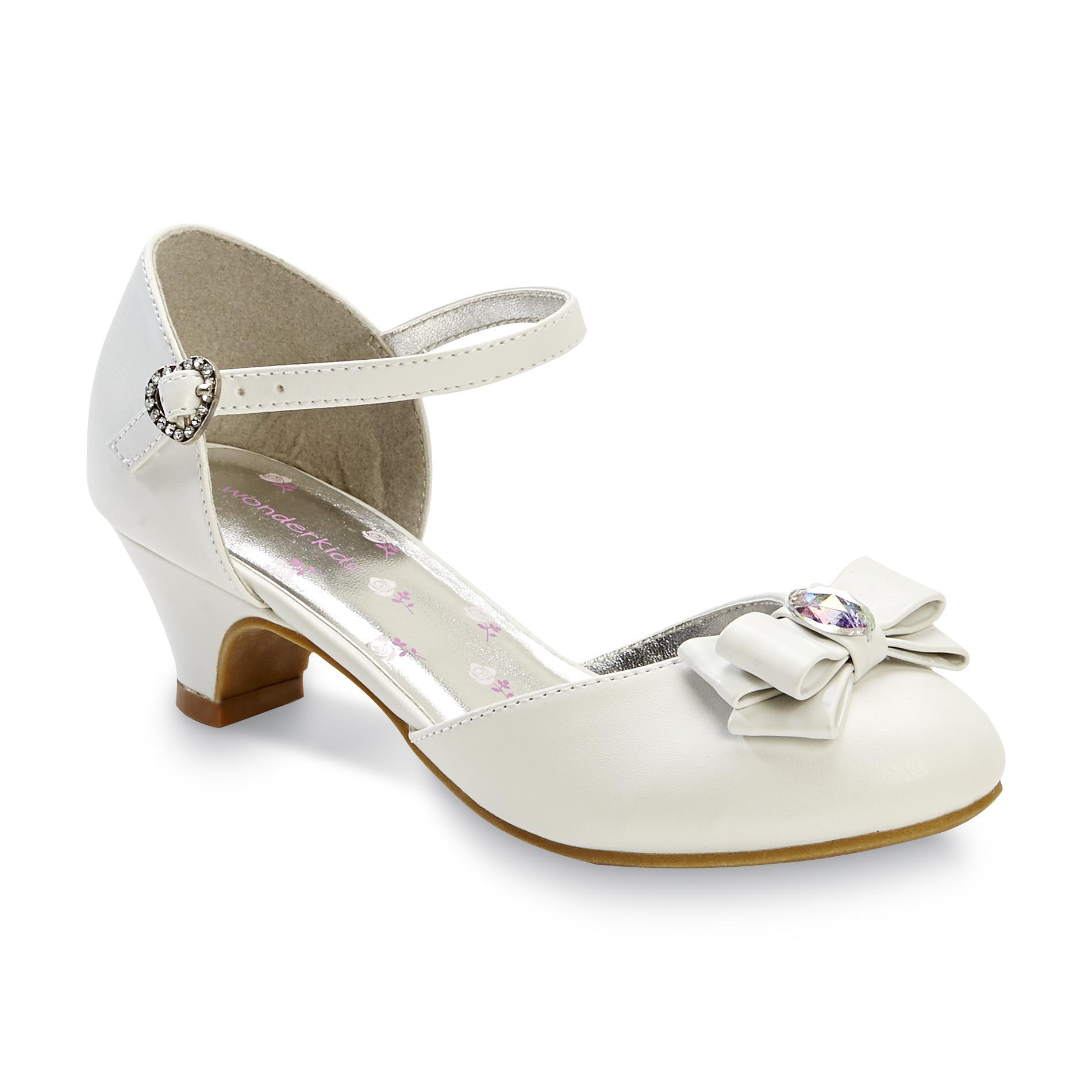 Sears Girls White Dress Shoes