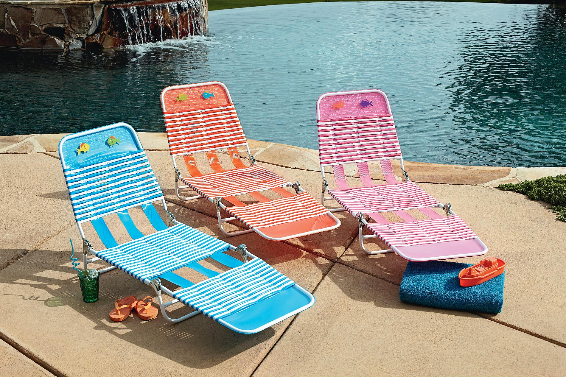 pvc lounge chair best inversion essential garden kiddie pink outdoor living patio alternate image