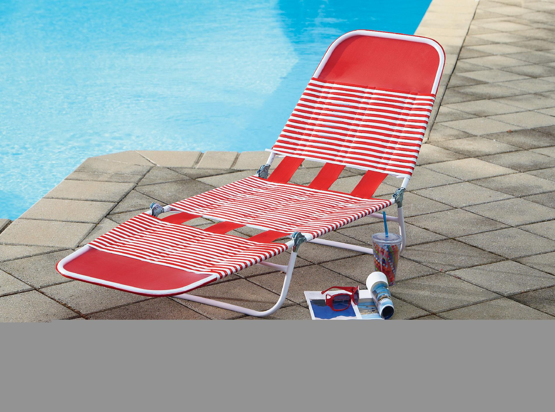 pvc lounge chair swing egg ikea essential garden chaise red outdoor living