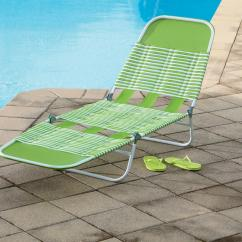 Pvc Lounge Chair Dining Legs Essential Garden Chaise Green Outdoor Living