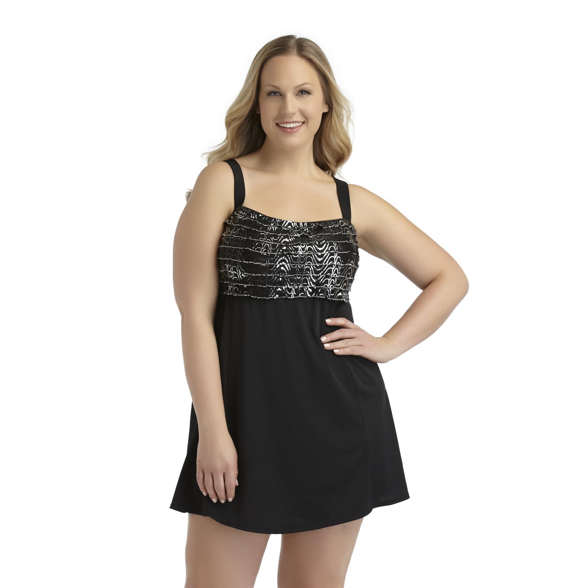 Jaclyn Smith Women39s Plus Swim Dress