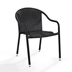 Stackable Outdoor Chairs Black Tufted Dining Chair Casual Patio Find Seating At Sears