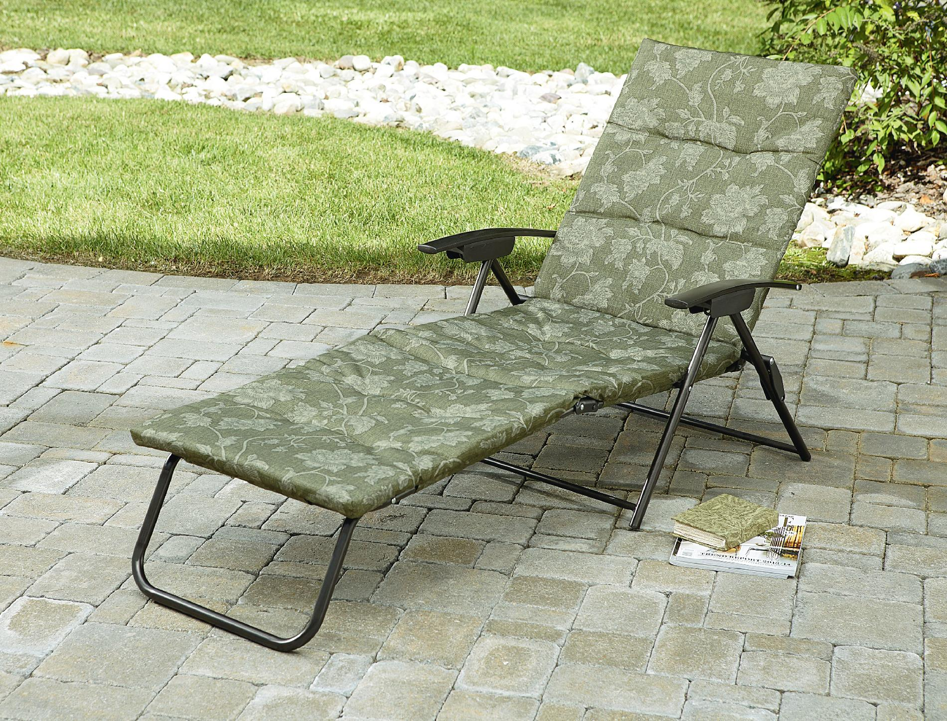 Kmart Lawn Chairs Jaclyn Smith Cora Padded Folding Chaise