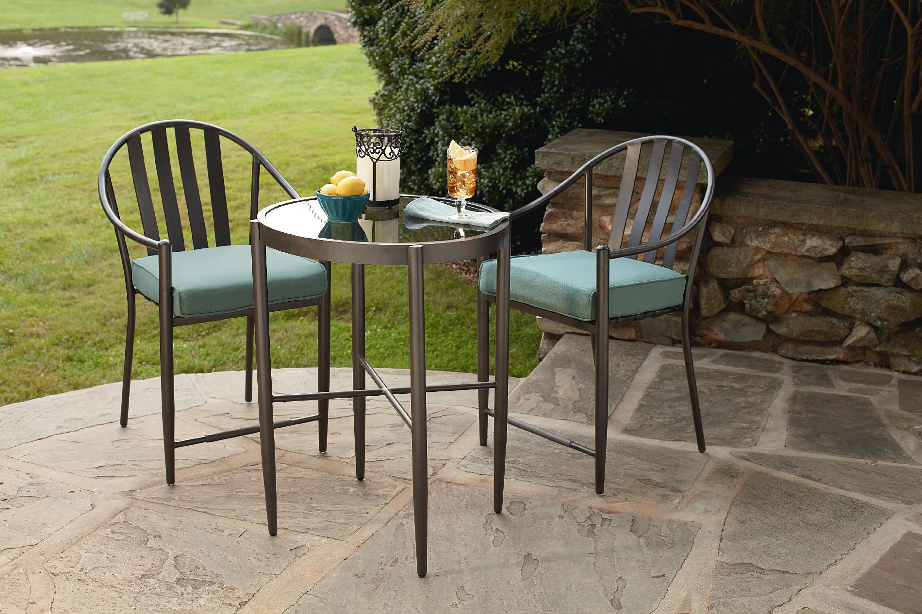 Jaclyn Smith Chandler 3pc High Bistro Set Limited Availability Outdoor Living Patio
