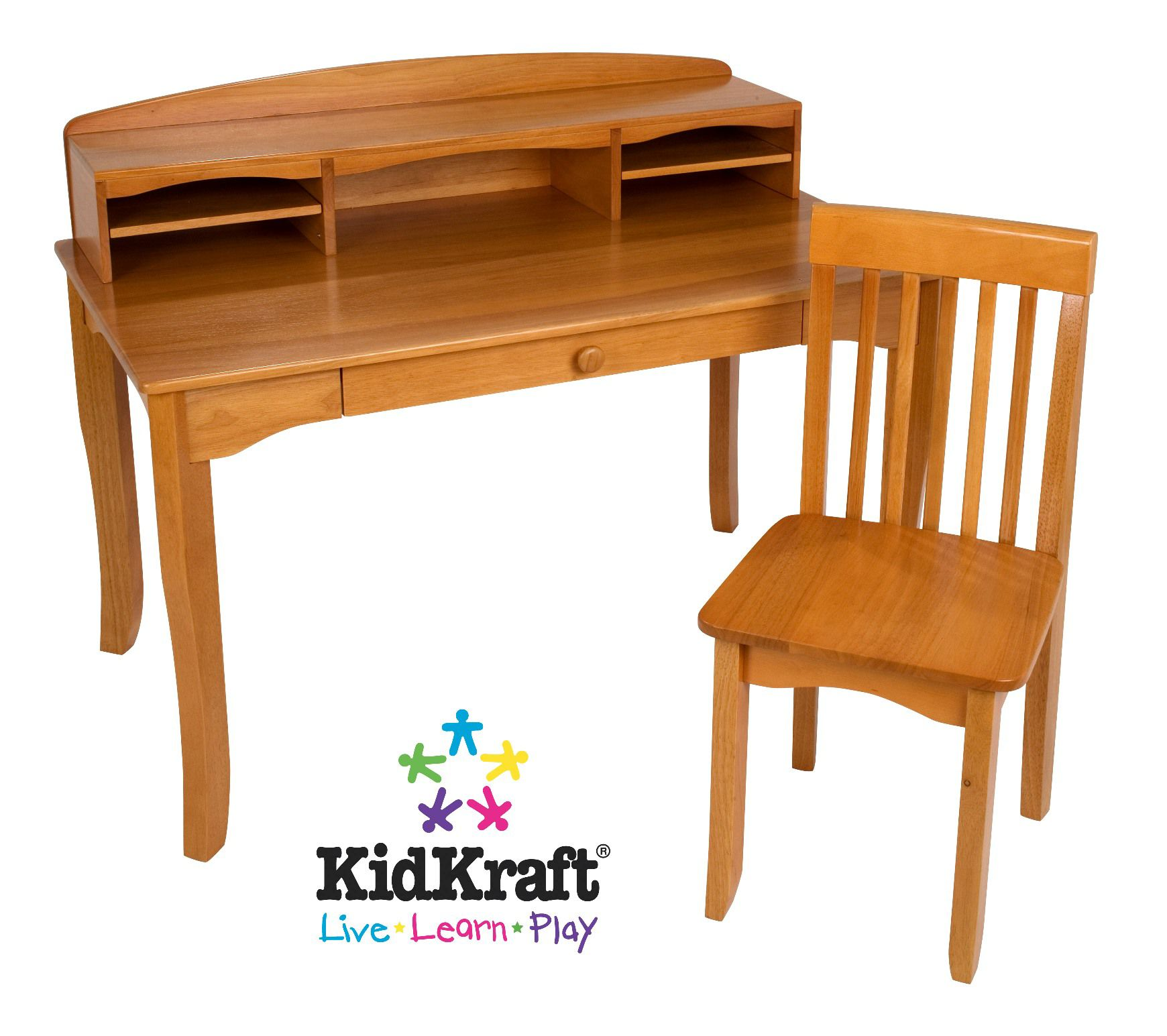 kidkraft avalon chair reception area seating chairs desk w hutch and honey