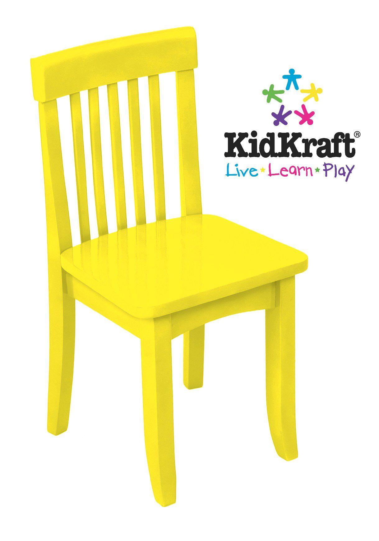kidkraft avalon chair florida beach chairs yellow