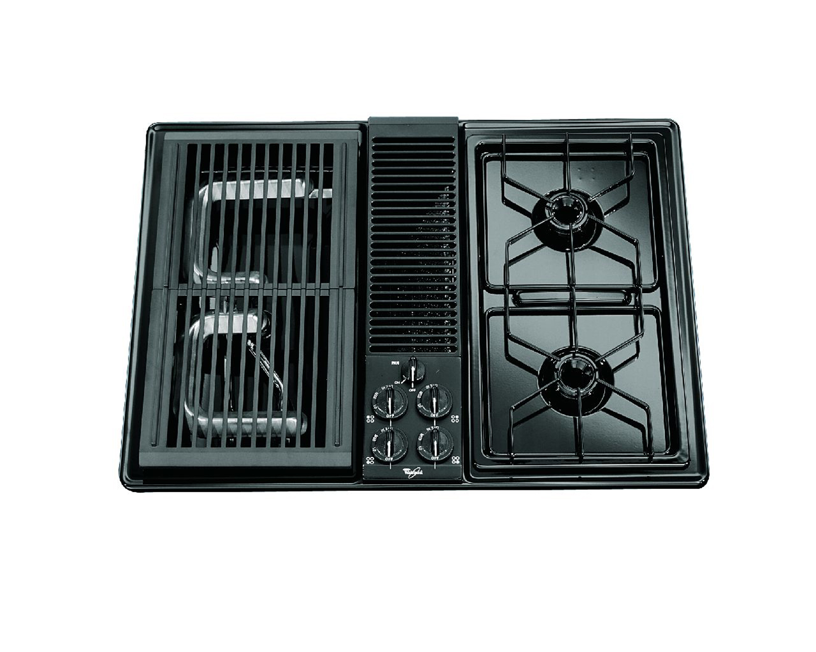 Whirlpool 30 Gas Cooktop with Downdraft