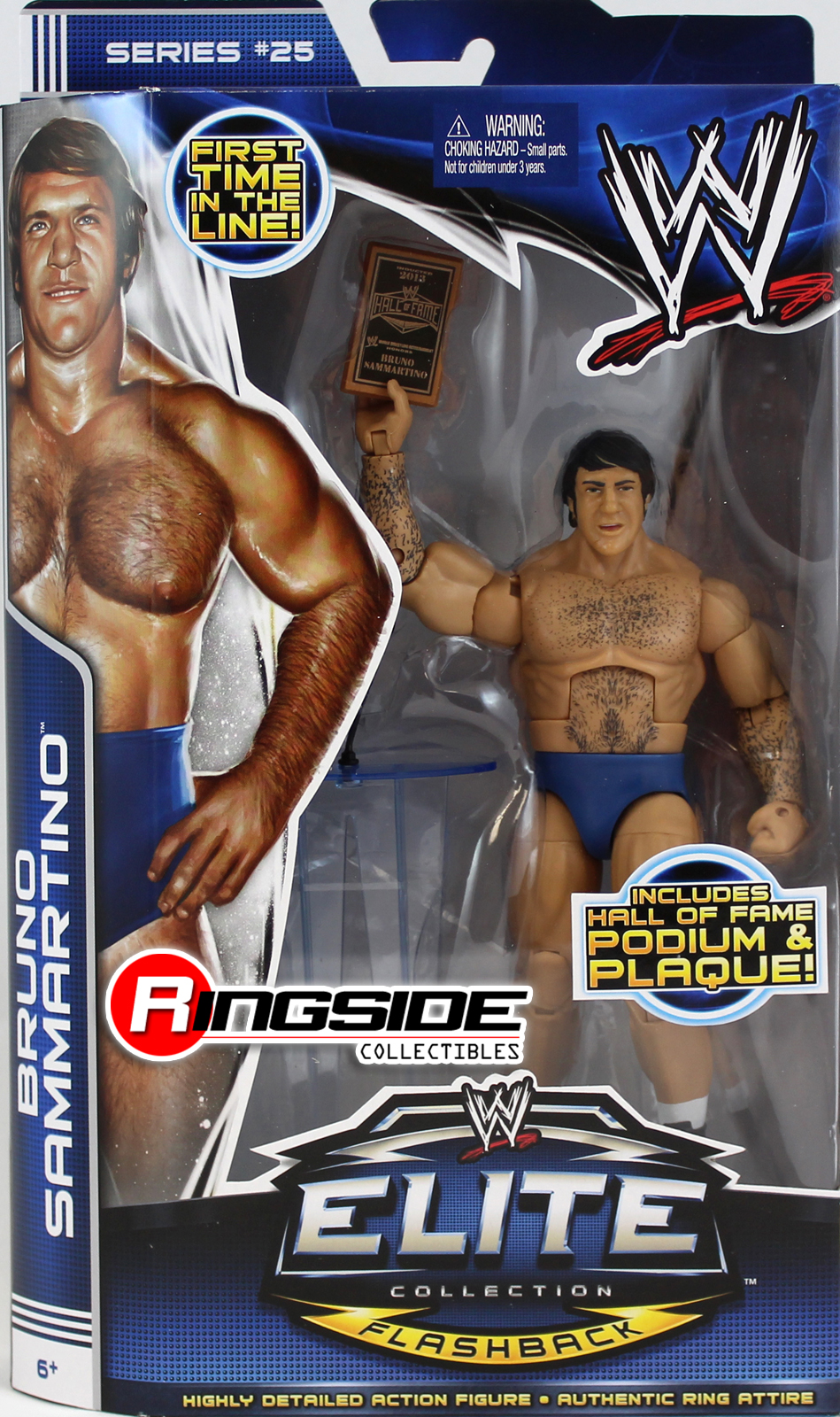 WWE Bruno Sammartino Elite 25 Toy Wrestling Action Figure