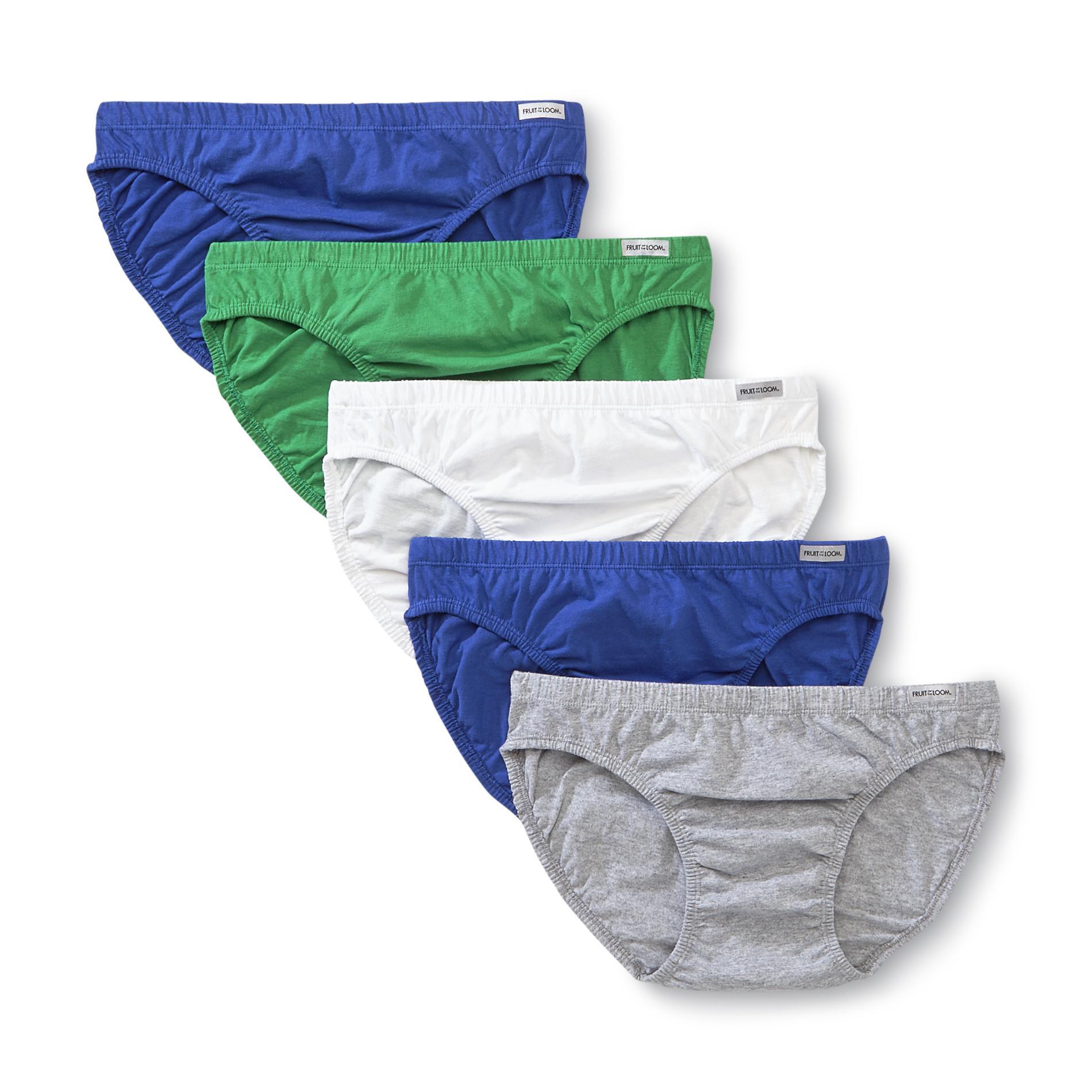 Fruit Of Loom Men Underwear Package 5 Fly Bikinis Multicolor