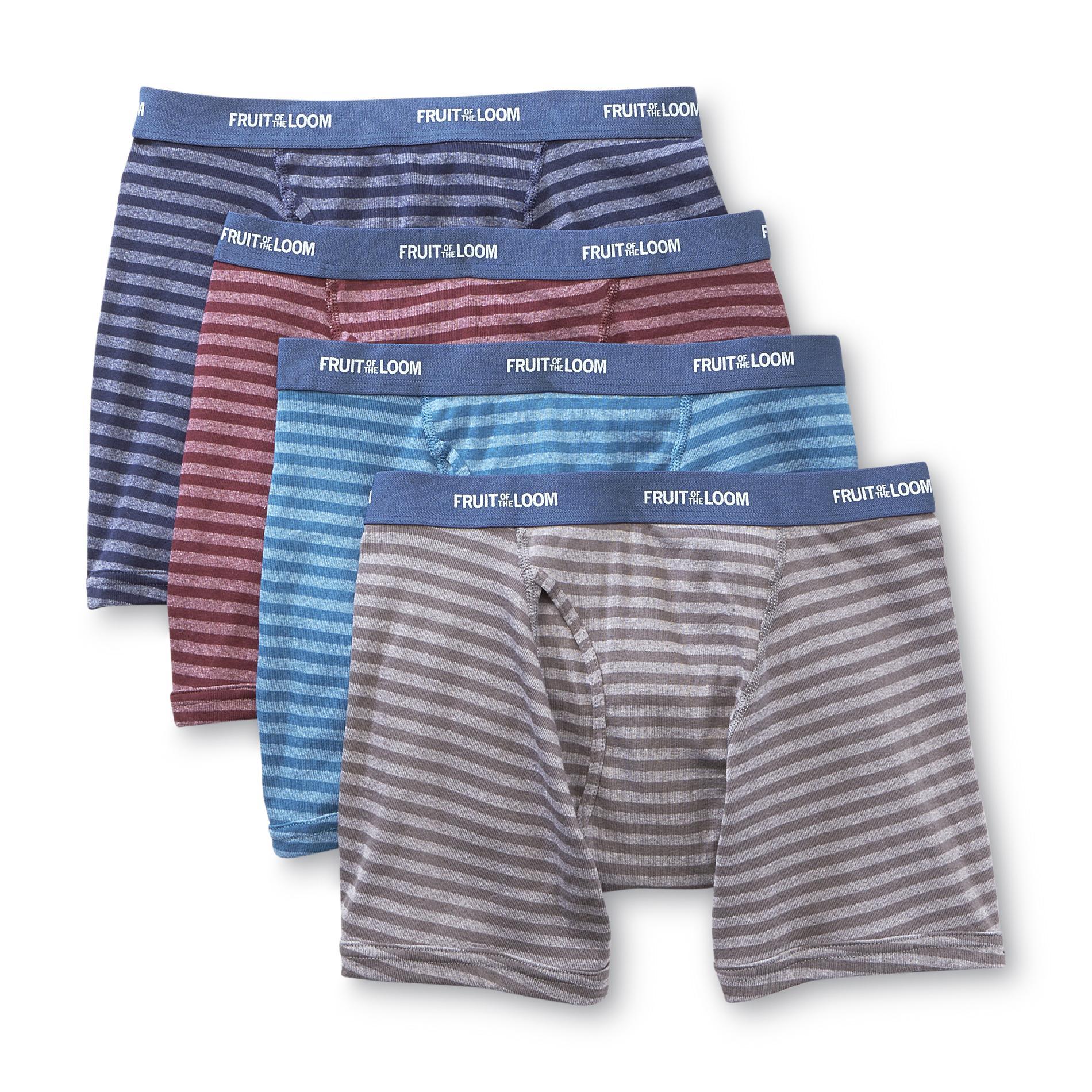 Fruit Of Loom Men Underwear 4 Pack Boxer Briefs