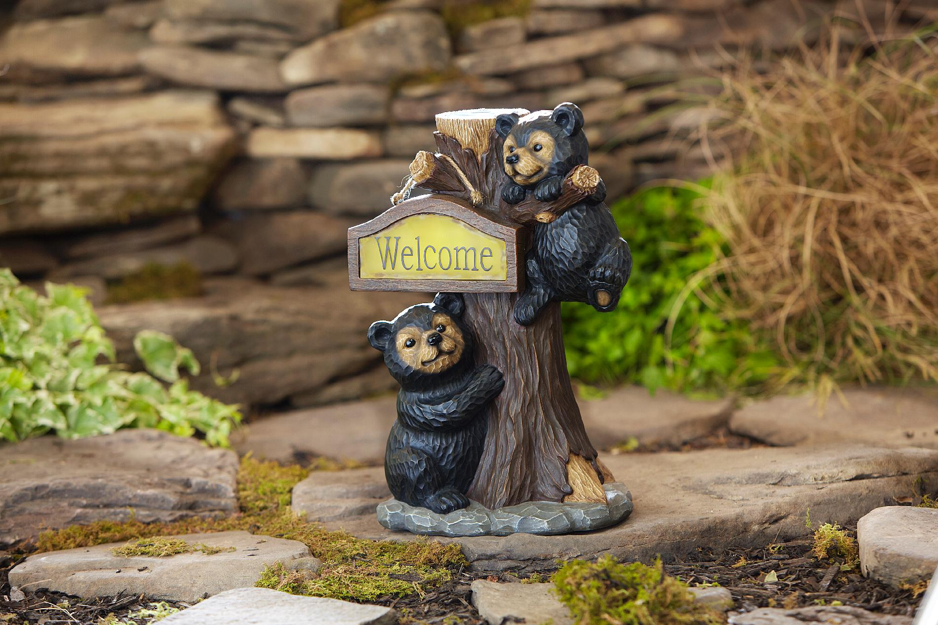 Outdoor Bear Welcome Statues