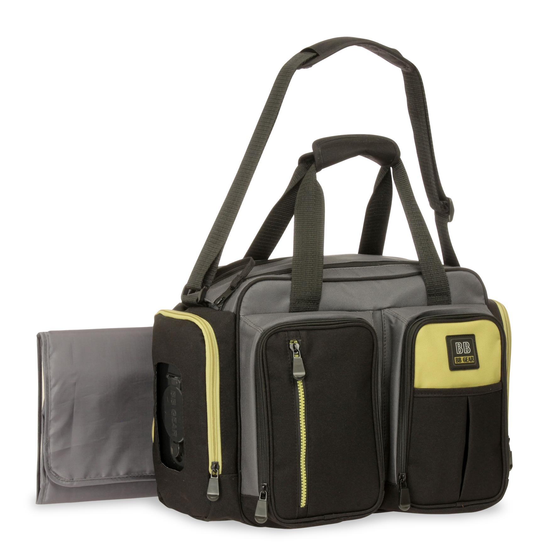 Baby Boom Quick Find Duffle Diaper Bag & Changing Pad