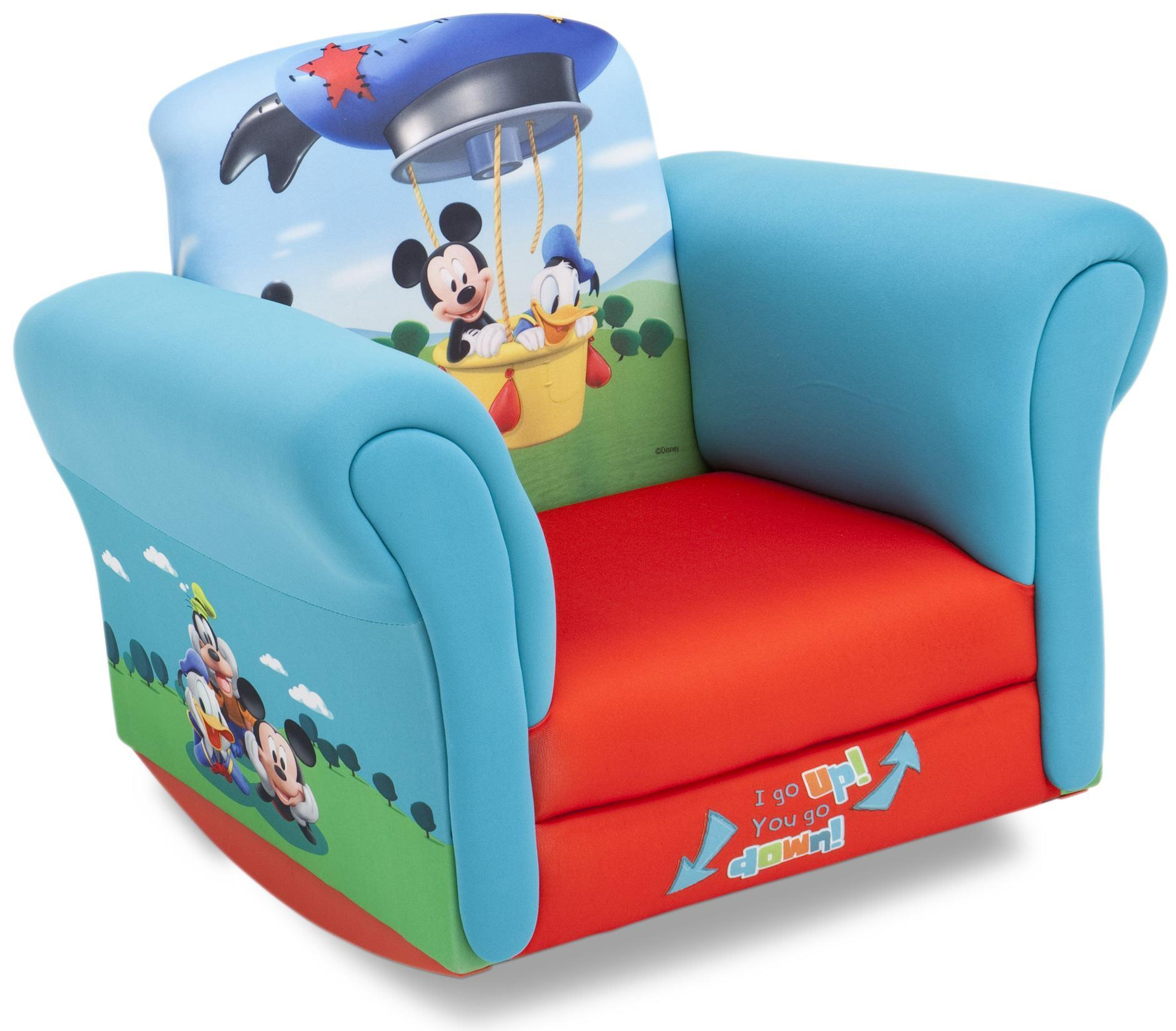 Toddler Chairs Delta Upholstered Child 39s Mickey Mouse Rocking Chair Kmart