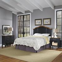 Home Styles Oak and Rubbed Black French Countryside Full ...