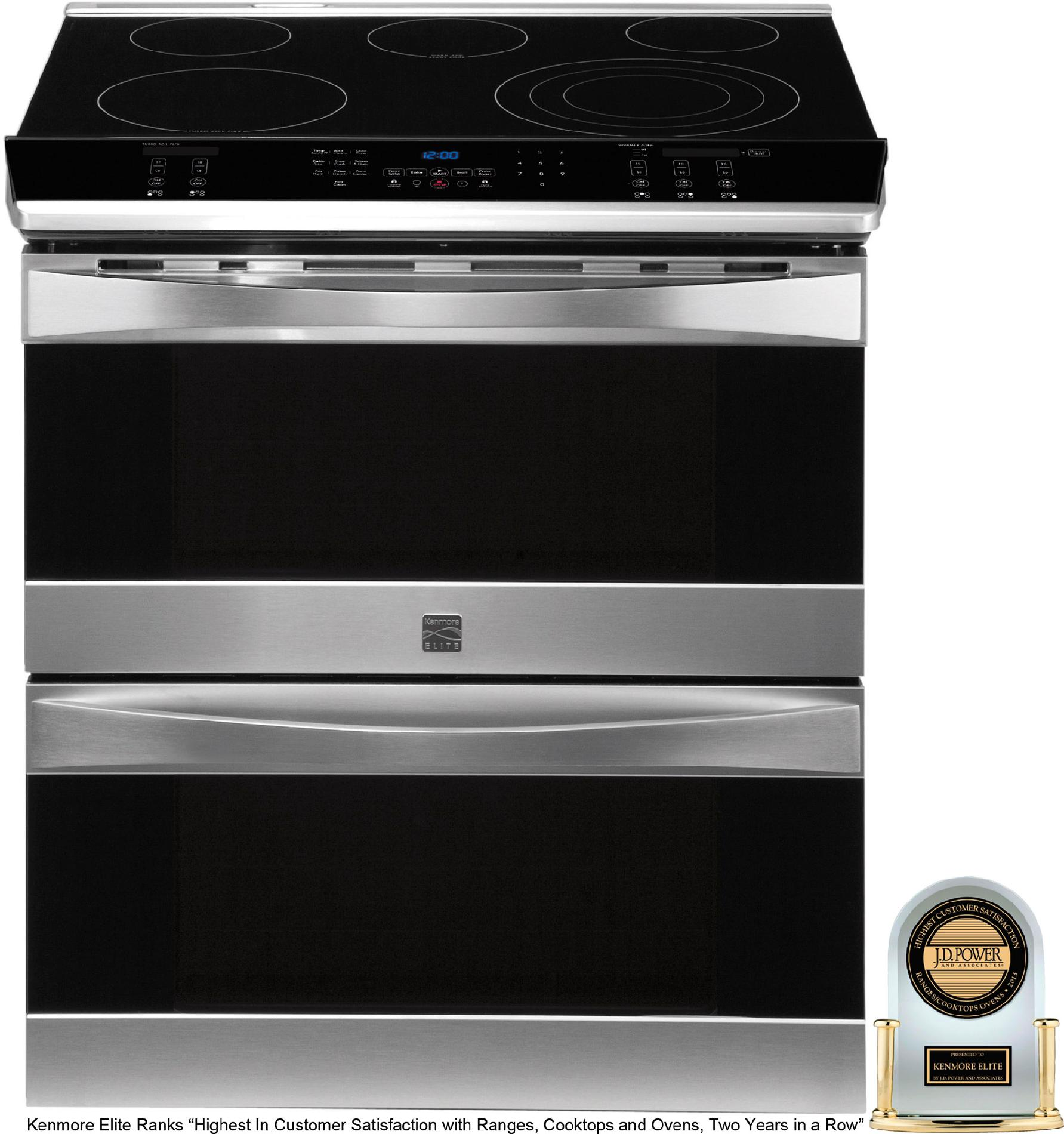 Kenmore Elite 41113 30 Double Oven Slide In Electric Range W Convection Stainless Steel