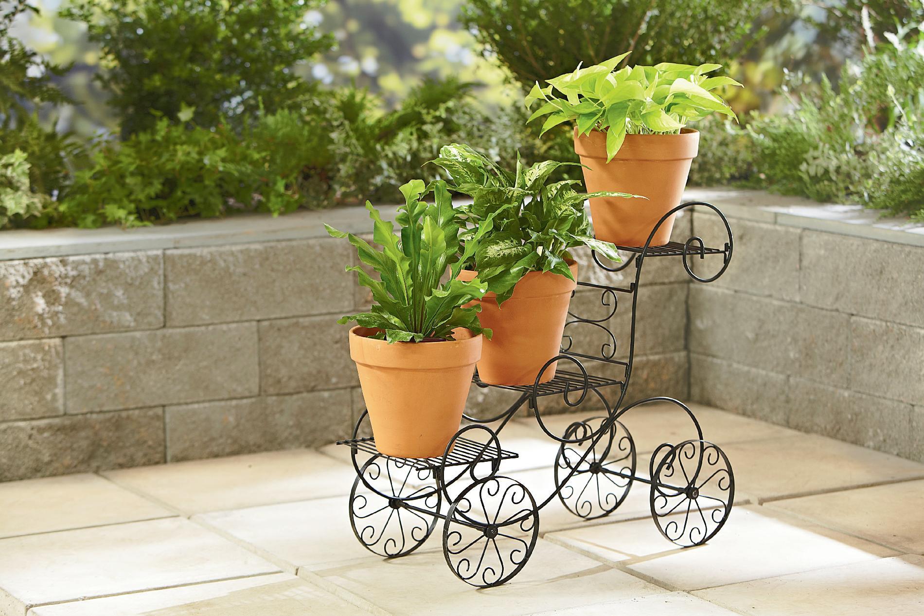 essential garden 3 tier plant stand