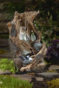 Garden Oasis Wood Stump Fountain