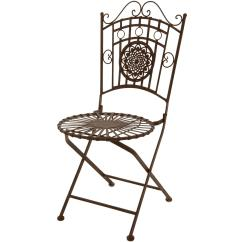Wrought Iron Chair Beach Kitchen Table And Chairs Oriental Furniture Garden Rust Patina