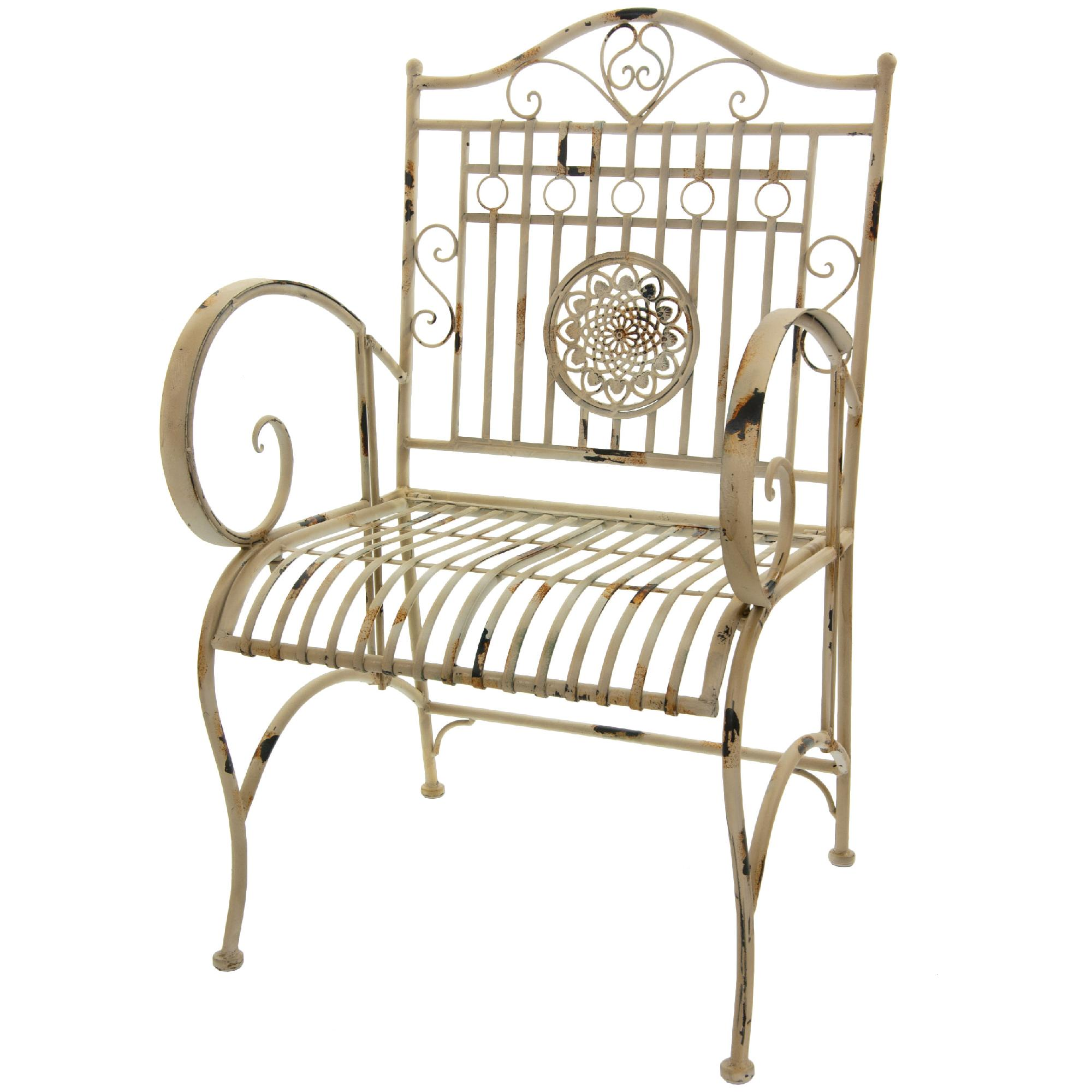 wrought iron chair telescopic camping chairs oriental furniture rustic garden