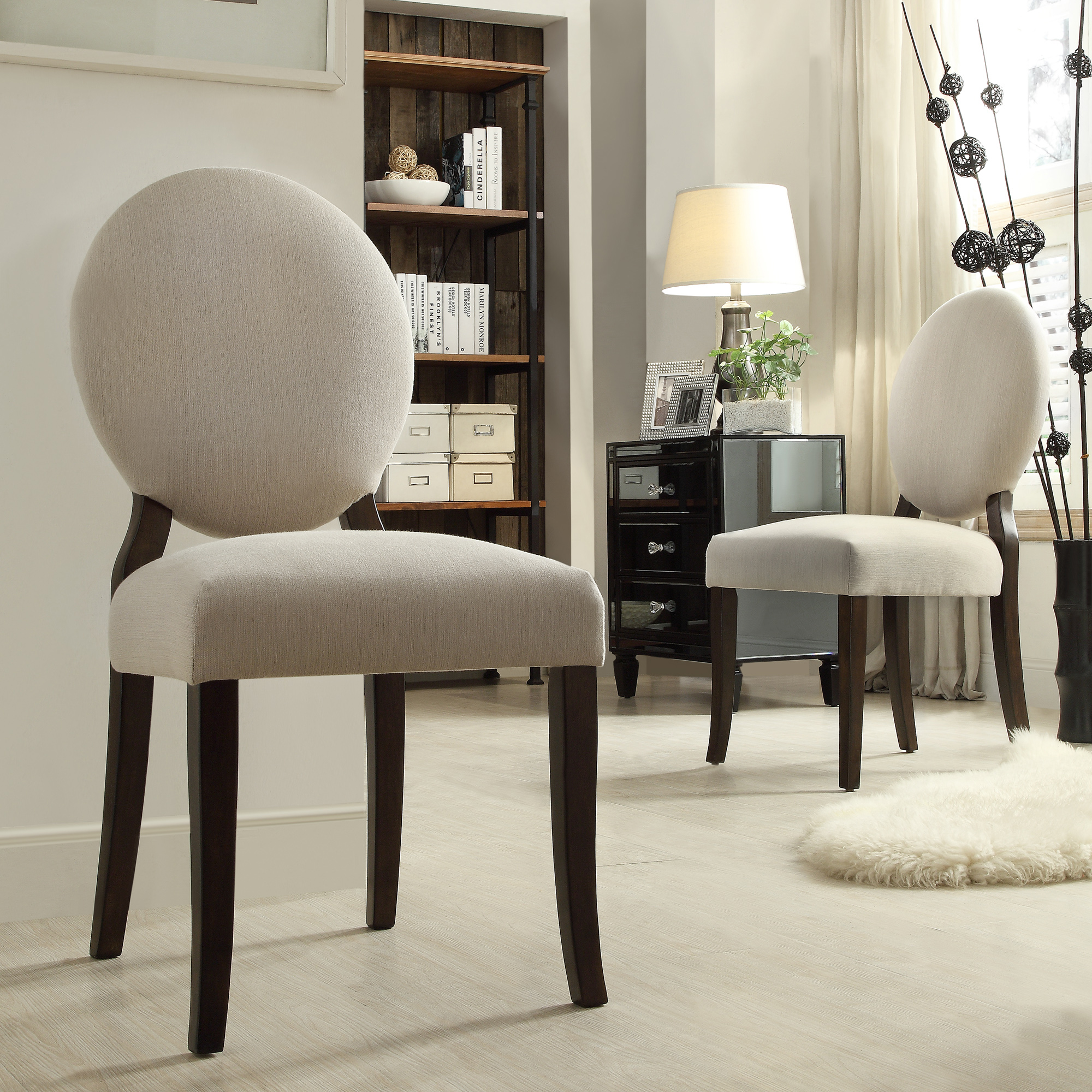 Round Back Dining Room Chairs Oxford Creek Harlem Grey Round Back Side Chair Set Of 2