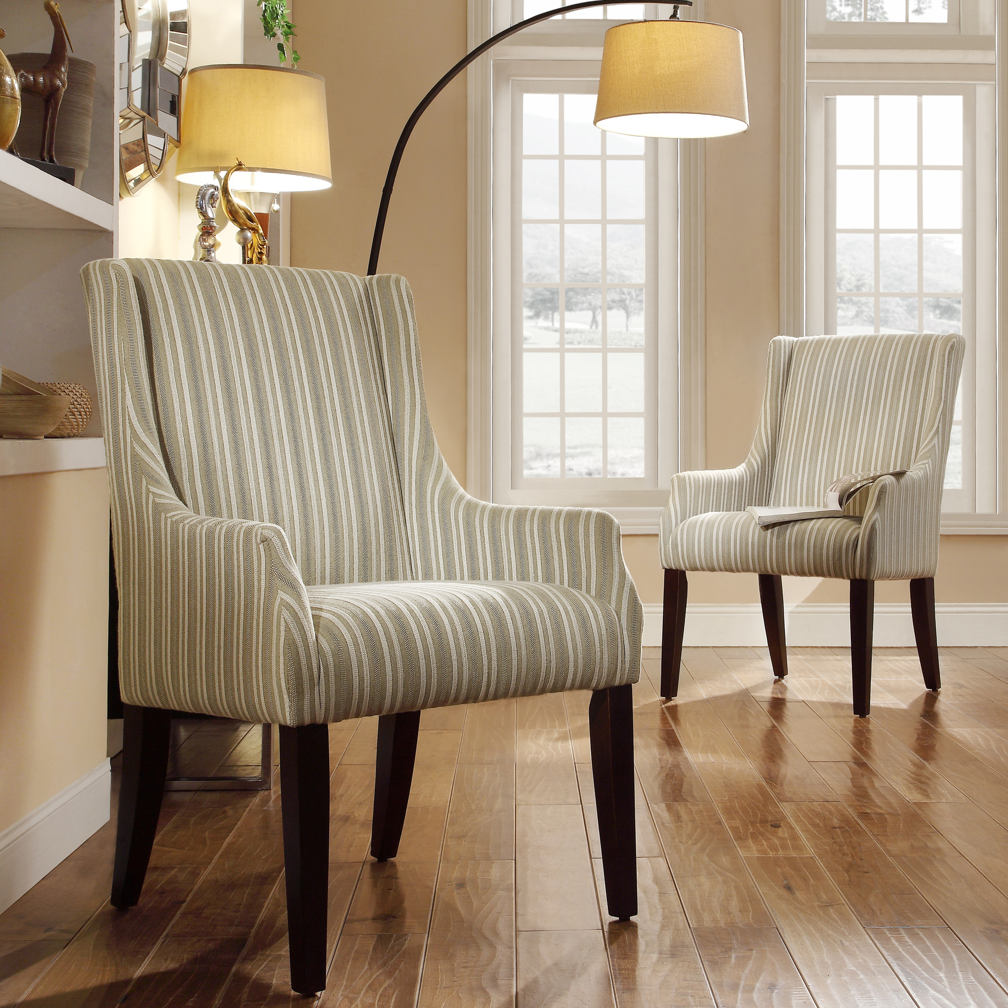 striped wingback chair children table and chairs oxford creek madison green white stripe