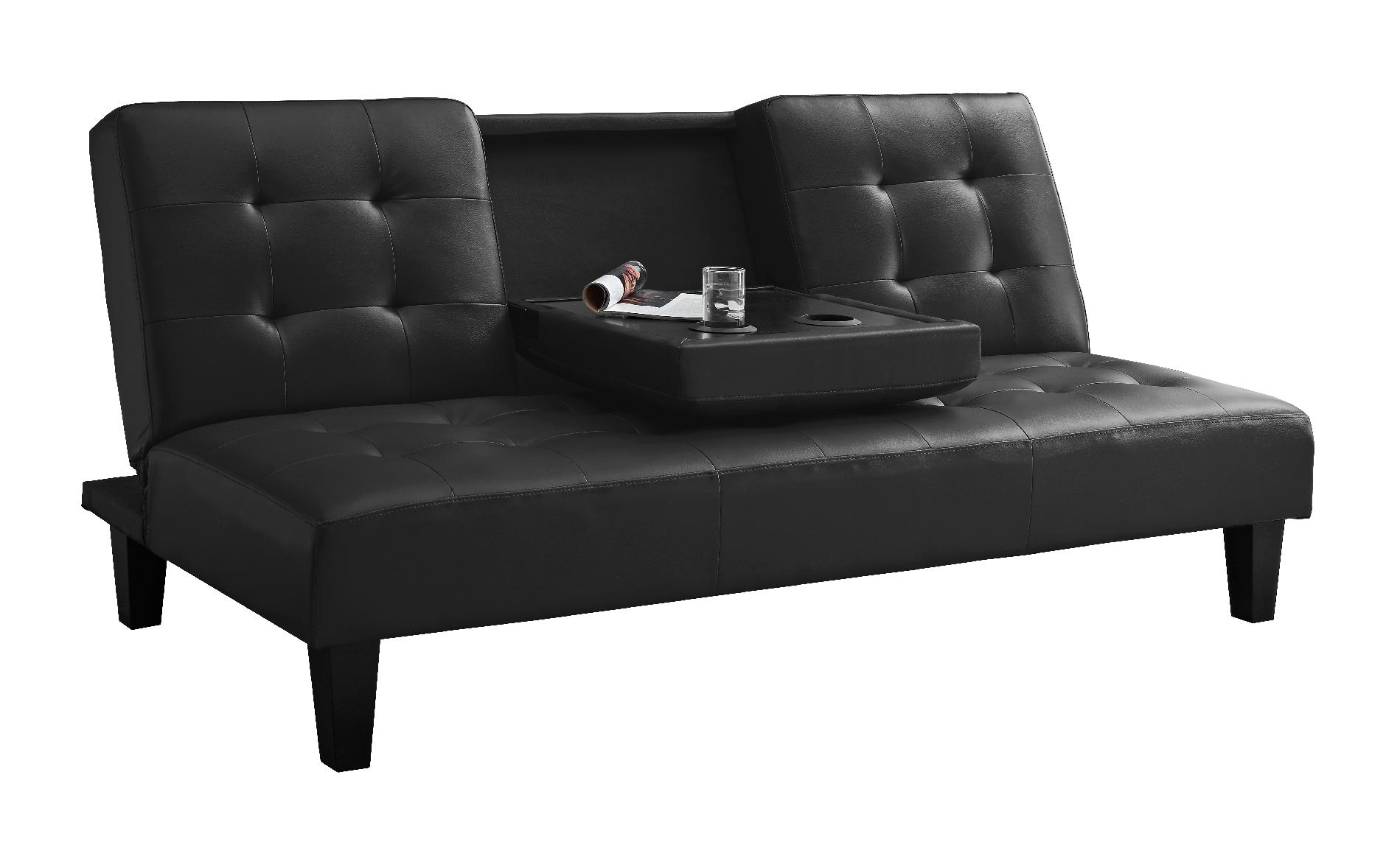 sofa armrest drink holder sherrill furniture 159 00 mainstays connectrix futon with adjustable