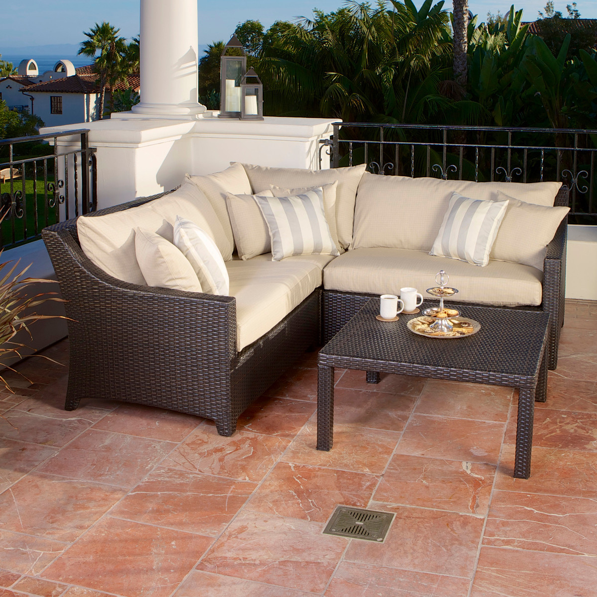 garden sofa and table sets room board leather bed rst brands slate 4 piece corner sectional coffee