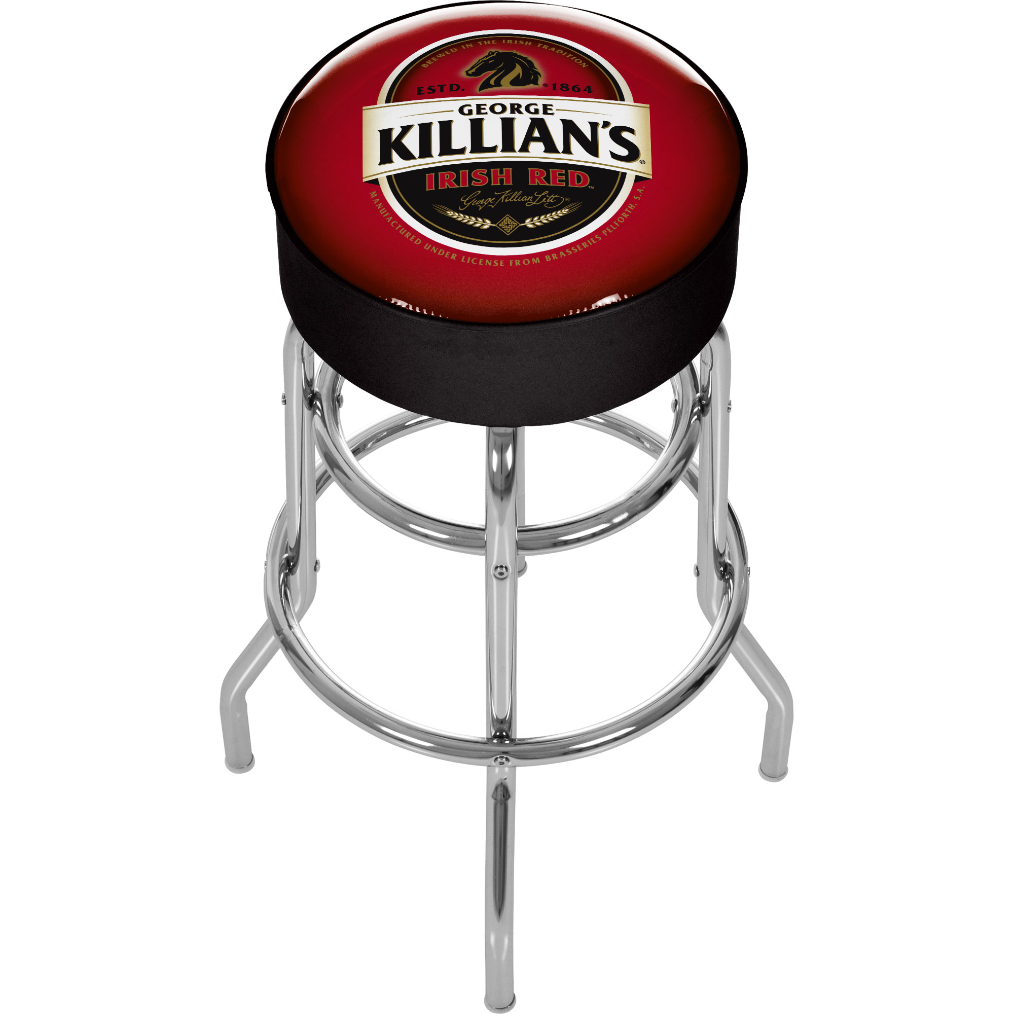 George Killians Irish Red Padded Bar Stool - In Usa Tools Garage Organization