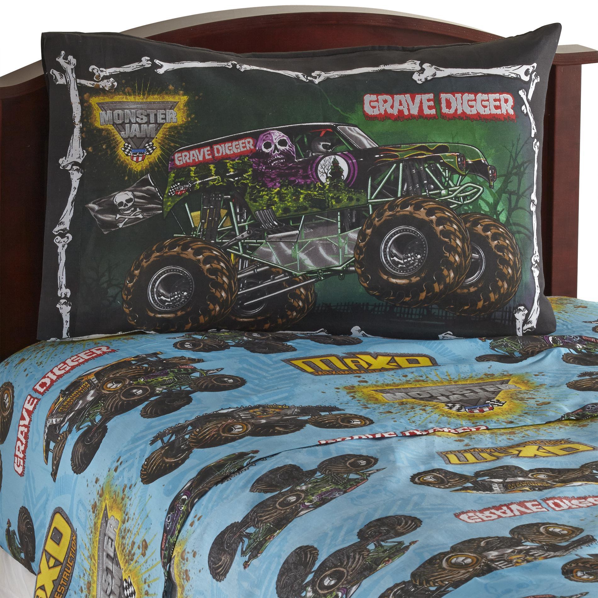 Monster Jam Truck Grave Digger Twin Bedding