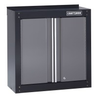 "Craftsman 28"" Wide Wall Cabinet - Black/Platinum / Wall ..."