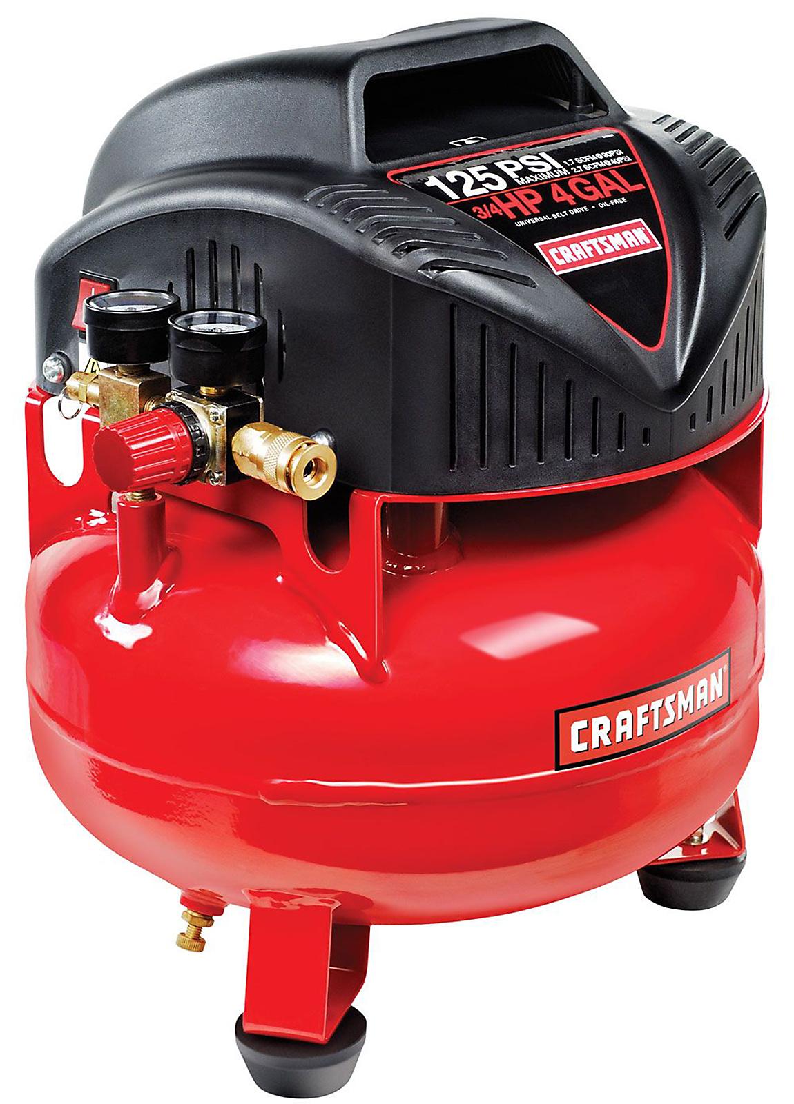 Craftsman 4 Gallon 0.75 Hp Oil-free Pancake Air Compressor