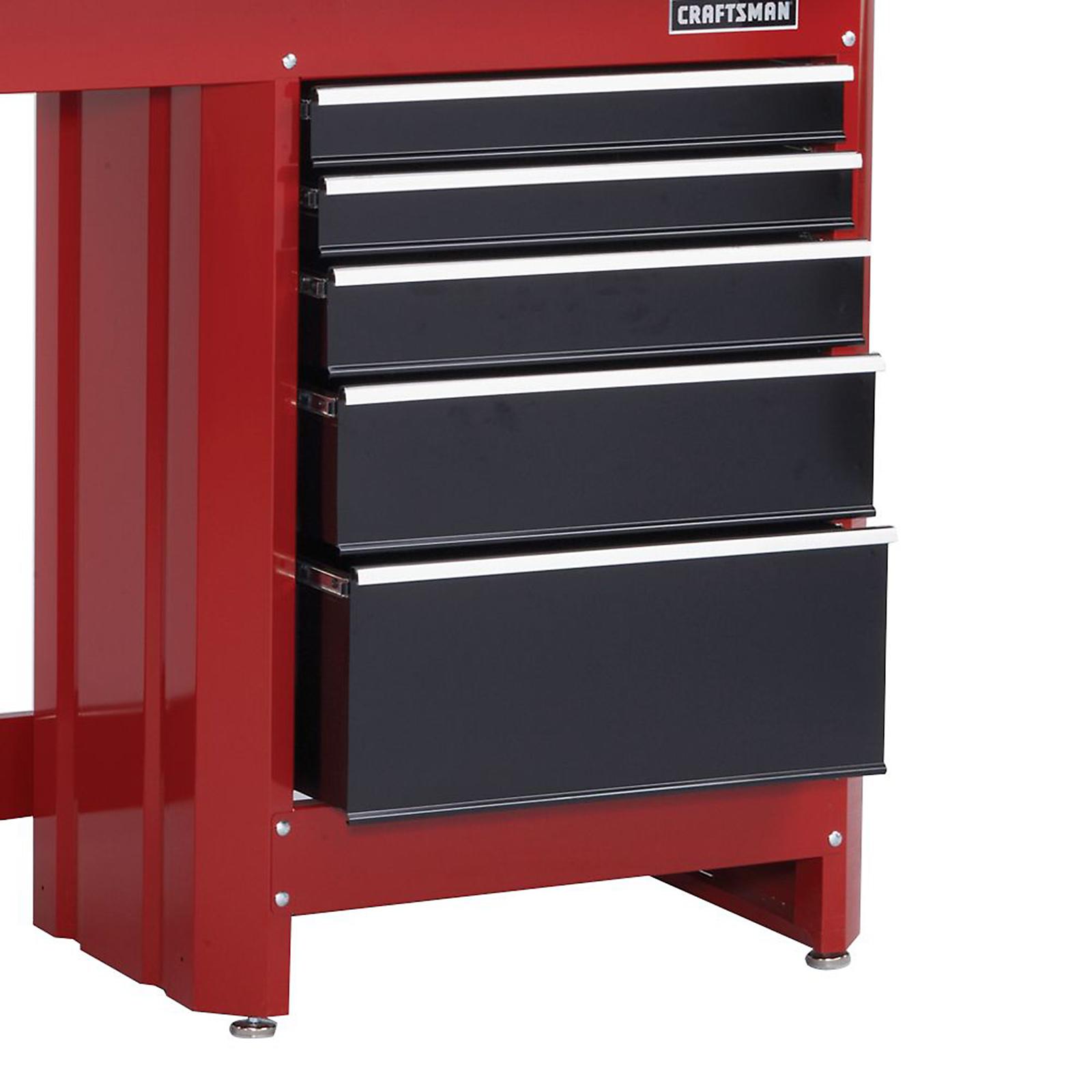 Craftsman 5Drawer Workbench Module  RedBlack  Shop